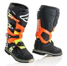 Adult Acerbis X-Rock Boots Black / Flo Orange